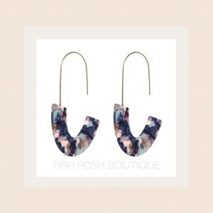 Jewelry - Blue Marble Acrylic Earrings